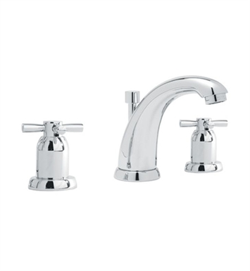 Rohl U.3861-2-STN Perrin & Rowe Widespread Bathroom Faucet with Cross Handles With Finish: Satin Nickel
