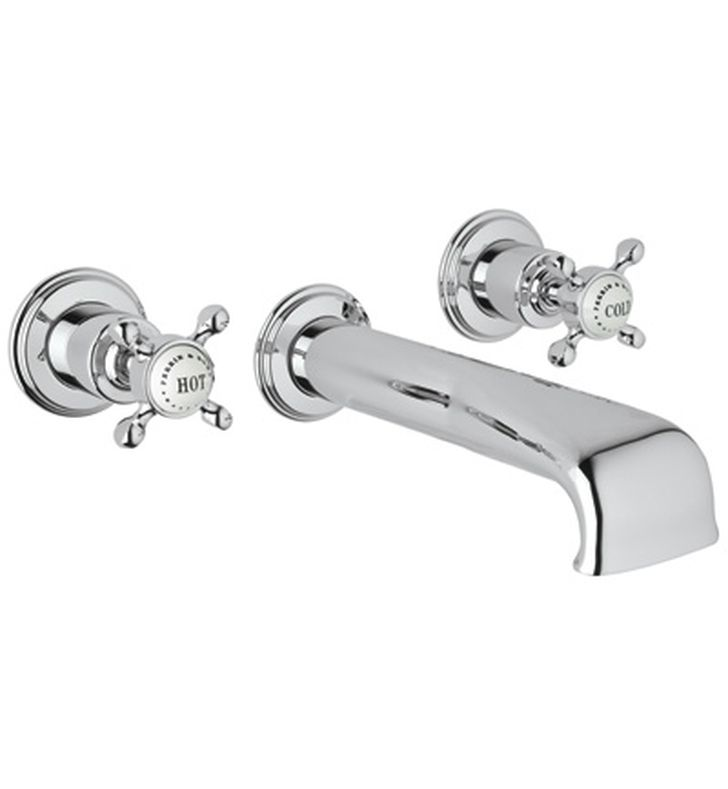 Rohl U.3581 Perrin & Rowe Wall Mount Tub Filler Faucet with Cross Handles