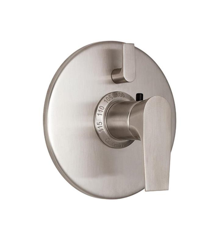 "California Faucets TO-TH1L-E2-BIS Diva 7 1/4"" Styletherm Trim with Single Volume Control With Finish: Biscuit <strong>(USUALLY SHIPS IN 1-3 WEEKS)</strong>"