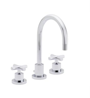 "California Faucets 6502-SC Tiburon 7 5/8"" Double Handle Widespread Bathroom Sink Faucet With Finish: Satin Chrome <strong>(USUALLY SHIPS IN 1-3 WEEKS)</strong>"