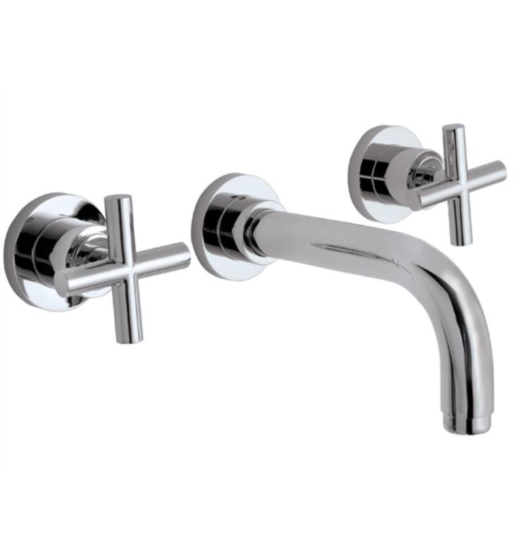 "California Faucets TO-V6502-9-PN Tiburon 9"" Double Handle Wall Mount/Vessel Bathroom Sink Faucet With Finish: Polished Nickel <strong>(USUALLY SHIPS IN 5-12 BUSINESS DAYS)</strong>"
