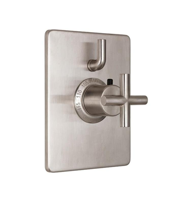 "California Faucets TO-THC1L-65-PEW Tiburon 5 7/8"" StyleTherm Trim Only with Single Volume Control With Finish: Pewter <strong>(USUALLY SHIPS IN 1-3 WEEKS)</strong>"