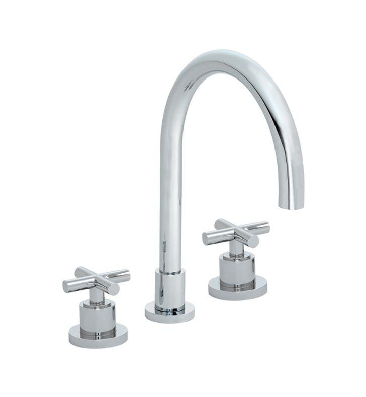 "California Faucets TO-6508-PC Tiburon 10 5/8"" Two Handle Widespread/Deck Mounted Roman Tub Trim Faucet With Finish: Polished Chrome <strong>(USUALLY SHIPS IN 1-5 BUSINESS DAYS)</strong>"