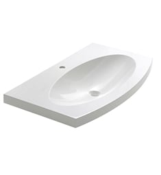 "Fresca FVS5092WH Energia 36"" White Integrated Sink with Countertop"
