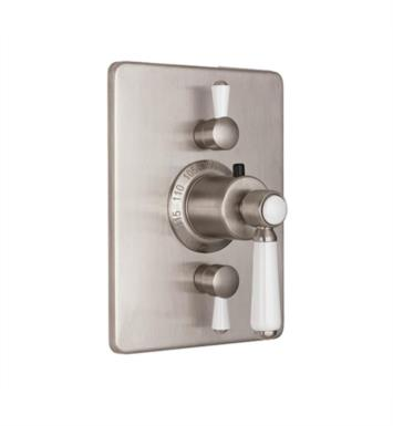 "California Faucets TO-THC2L-35-SRB Belmont 5 7/8"" StyleTherm Trim with Dual Volume Control With Finish: Satin Rose Bronze <strong>(USUALLY SHIPS IN 6-8 WEEKS)</strong>"