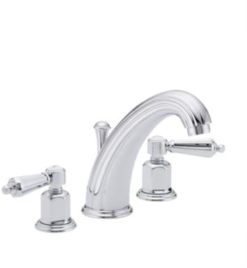 "California Faucets 6802-AB San Clemente 7 1/8"" Double Handle Widespread Bathroom Sink Faucet With Finish: Antique Brass <strong>(USUALLY SHIPS IN 5-12 BUSINESS DAYS)</strong>"