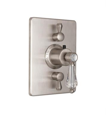 "California Faucets TO-THC2L-69-PBU Crystal Cove 5 7/8"" StyleTherm Trim with Dual Volume Control With Finish: Polished Brass Uncoated <strong>(USUALLY SHIPS IN 3-9 BUSINESS DAYS)</strong>"