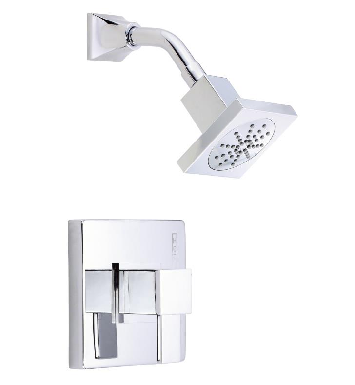 Danze D502533BNT Reef Single Handle Pressure Balance Shower Only Trim Kit with Showerhead With Finish: Brushed Nickel