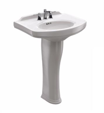 "TOTO LPT642.8#01 Dartmouth 24 1/4"" Vitreous China Rectangular Pedestal Lavatory Sink With Finish: Cotton And Faucet Holes: 8-Inch Centers"