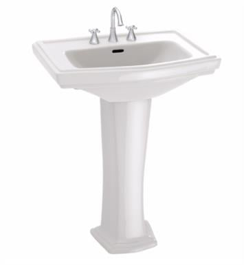 "TOTO LPT780.4#11 Clayton 27"" Vitreous China Rectangular Pedestal Lavatory Sink With Finish: Colonial White And Faucet Holes: 4-Inch Centers"