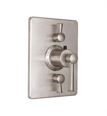 "California Faucets TO-THC2L-48-PEW Miramar 5 7/8"" StyleTherm Trim with Dual Volume Control With Finish: Pewter <strong>(USUALLY SHIPS IN 1-3 WEEKS)</strong>"