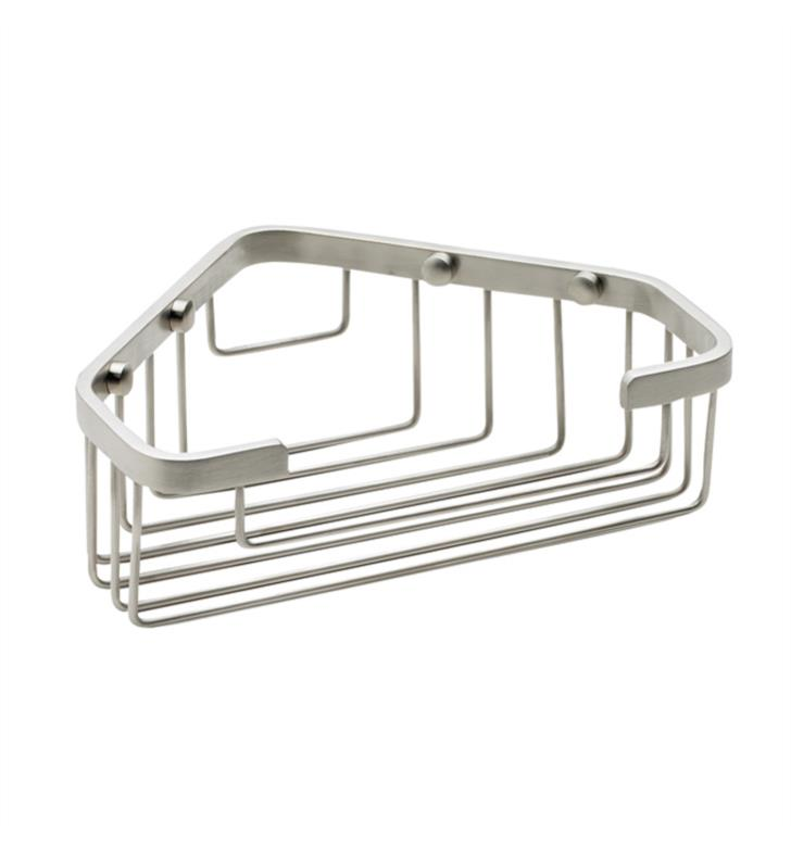 "California Faucets 9456-GRP 7 7/8"" Corner Shower Basket With Finish: Graphite <strong>(USUALLY SHIPS IN 3-5 WEEKS)</strong>"