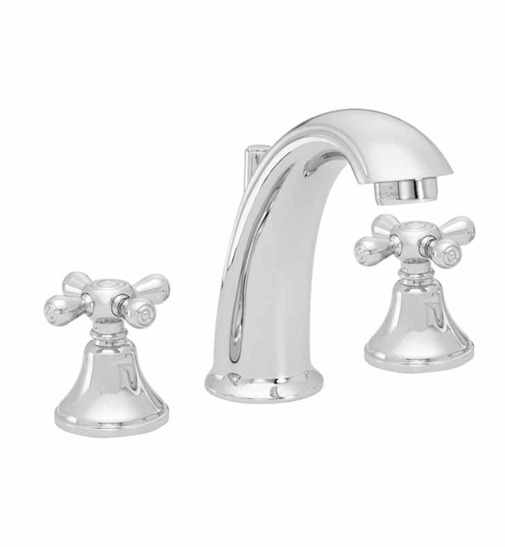 California Faucets 2102-CR Builders 21 Series High Spout Widespread Faucet with Metal Cross Handles