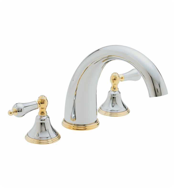 "California Faucets TO-5508-AB Coronado 10 3/4"" Two Handle Widespread/Deck Mounted Roman Tub Trim Faucet Set With Finish: Antique Brass <strong>(USUALLY SHIPS IN 5-12 BUSINESS DAYS)</strong>"