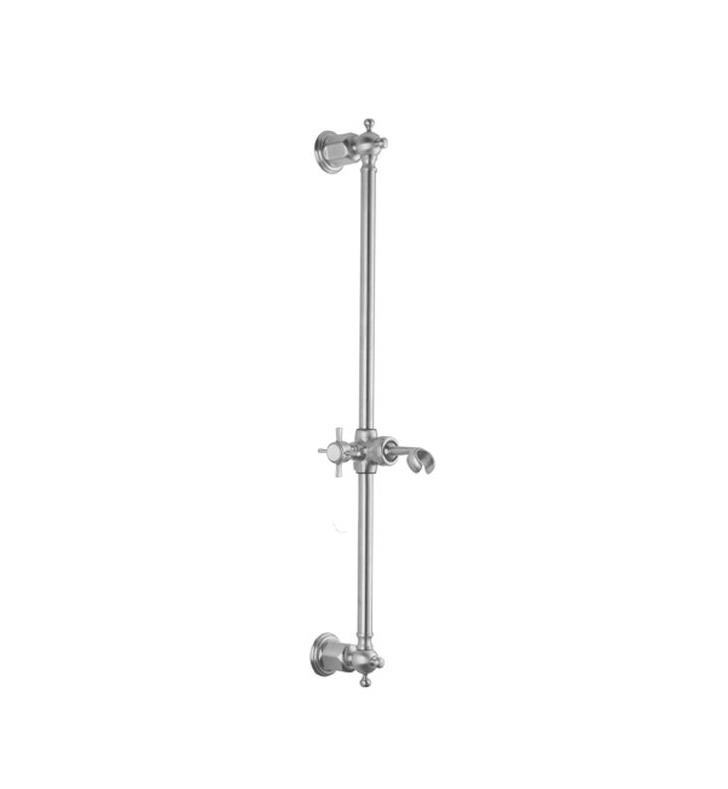 "California Faucets SB-60-PEW 60 Series 2 1/8"" Traditional Wall Mount Slide Bar With Finish: Pewter <strong>(USUALLY SHIPS IN 1-3 WEEKS)</strong>"