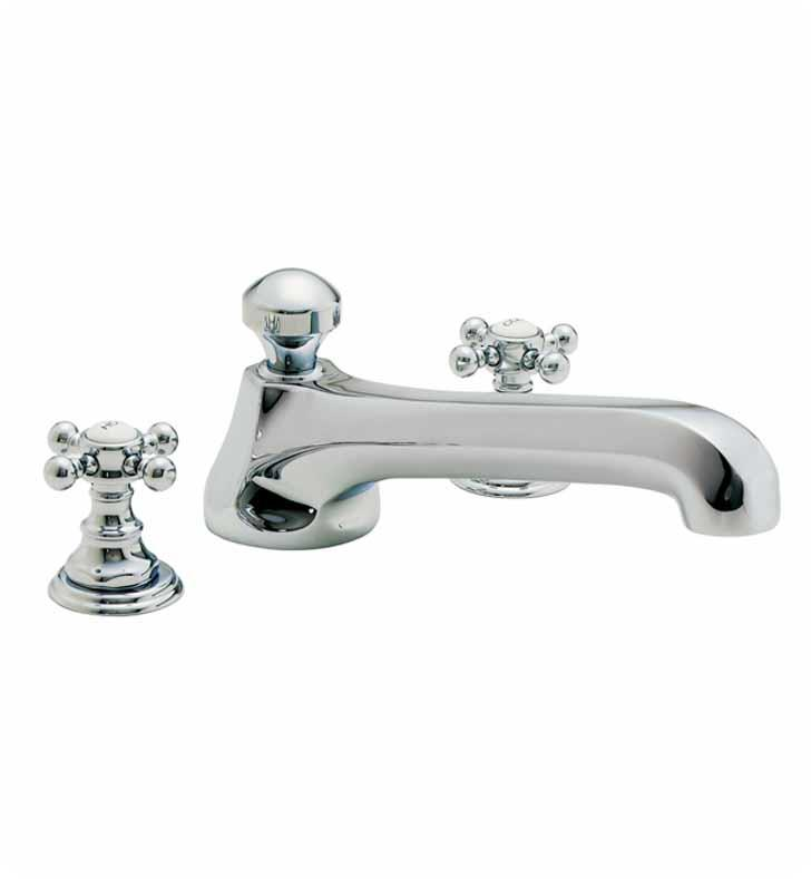 "California Faucets TO-6008-PEW Del Mar 10 1/2"" Two Handle Widespread/Deck Mounted Roman Tub Trim Faucet Set With Finish: Pewter <strong>(USUALLY SHIPS IN 1-3 WEEKS)</strong>"