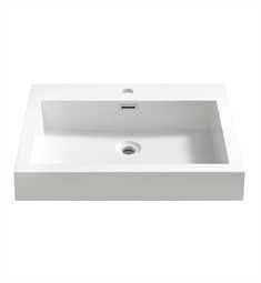 "Fresca FVS8006WH Nano 24"" White Integrated Sink with Countertop"
