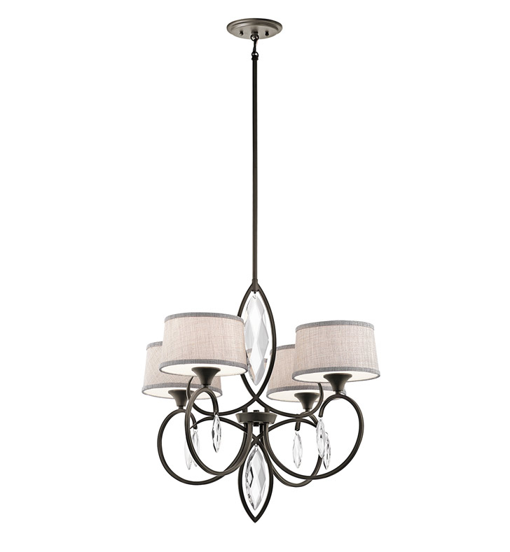 Kichler 43565SGD Chandelier 4 Light With Finish: Sterling Gold