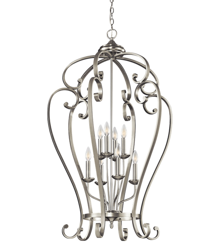 Kichler 43167NI Foyer Chandelier 8 Light With Finish: Brushed Nickel