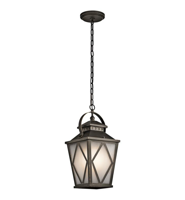 Kichler 49294OZ Hayman Bay 1 Light Incandescent Outdoor Hanging Pendant in Olde Bronze