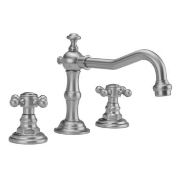 "Jaclo 7830-T678-PN Roaring 20's 6 7/8"" Widespread Ball Cross Handle Bathroom Sink Faucet with Standard Drain With Finish: Polished Nickel And Flow Rate: 1.5 GPM"