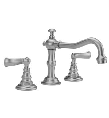 "Jaclo 7830-T667-SG Roaring 20's 6 7/8"" Widespread Ribbon Lever Handle Bathroom Sink Faucet with Standard Drain With Finish: Satin Gold And Flow Rate: 1.5 GPM"
