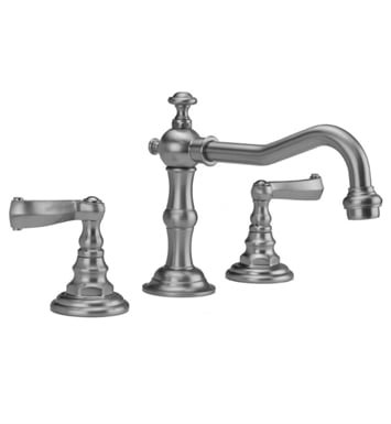 Jaclo 7830-T667-MBK Roaring 20's Widespread Faucet with Ribbon Lever Handle With Finish: Matte Black