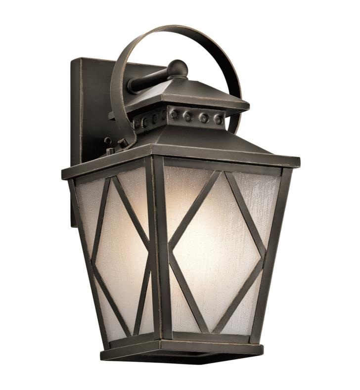 "Kichler 49291OZ Hayman Bay 1 Light 7"" Incandescent Outdoor Wall Sconce in Olde Bronze"
