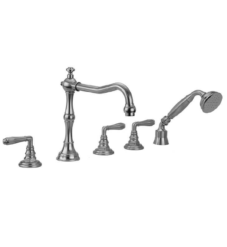 Jaclo 9930-T674-A-240-TRIM Roaring 20's Roman Tub Faucet with Angle Handshower & Traditional Lever Handles
