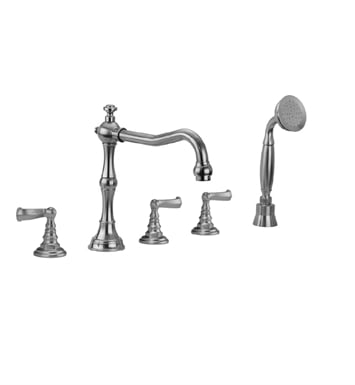 Jaclo 9930-T667-S-240-TRIM-ORB Roaring 20's Roman Tub Faucet with Straight Handshower & Ribbon Lever Handles With Finish: Oil Rubbed Bronze