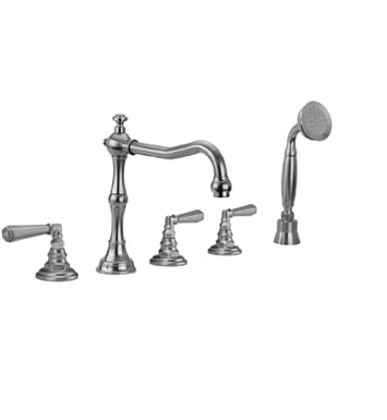 Jaclo 9930-T675-S-240-TRIM-SDB Roaring 20's Roman Tub Faucet with Straight Handshower & Hex Lever Handles With Finish: Sedona Beige