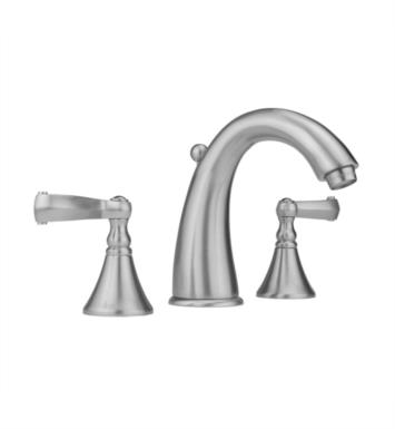 "Jaclo 5460-T647-TB Cranford 5 1/2"" Widespread Ribbon Lever Handle Bathroom Sink Faucet with Standard Drain With Finish: Tristan Brass And Flow Rate: 1.5 GPM"