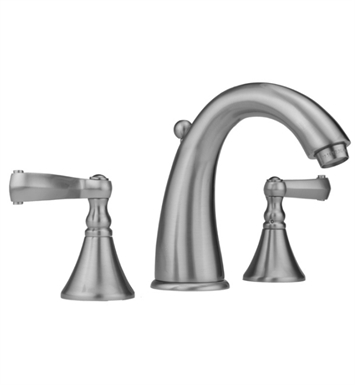 Jaclo 5460-T647-SC Cranford Widespread Faucet with Ribbon Lever Handles With Finish: Satin Chrome
