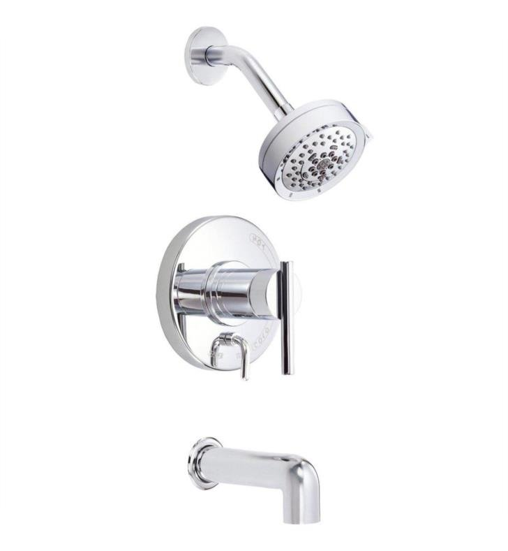 Danze D510058BNT Parma Trim Only Single Handle Pressure Balance Tub and Shower Faucet With Finish: Brushed Nickel