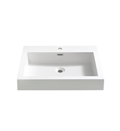 "Fresca FVS8058WH Alto 23"" White Integrated Sink with Countertop"