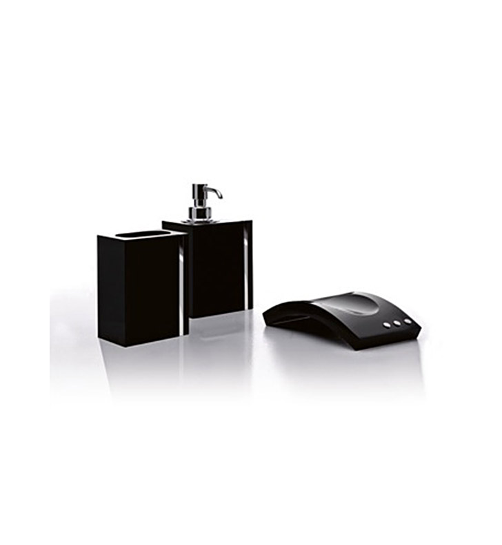 Nameeks A08200-14 Toscanaluce Bathroom Accessory Set With Finish: Black