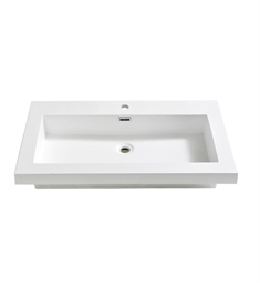 "Fresca FVS8080WH Medio 32"" White Integrated Sink with Countertop"