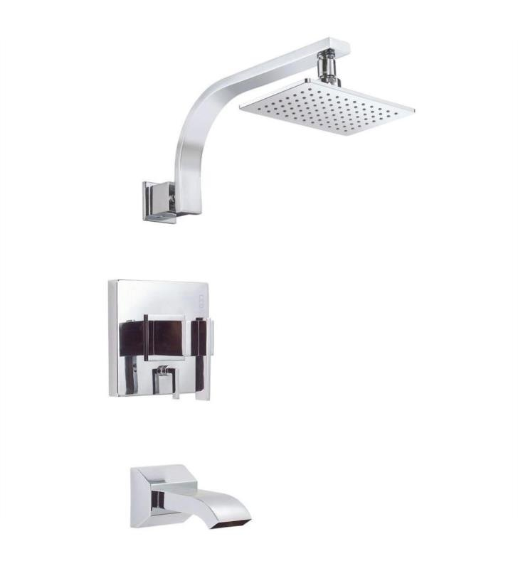 Danze D512044BNT Sirius Trim Only Single Handle Pressure Balance Tub and Shower Faucet With Finish: Brushed Nickel