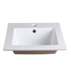 "Fresca FVS8118WH Allier 16"" White Integrated Sink with Countertop"