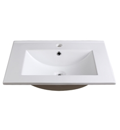 "Fresca FVS8125WH Allier 24"" White Integrated Sink with Countertop"