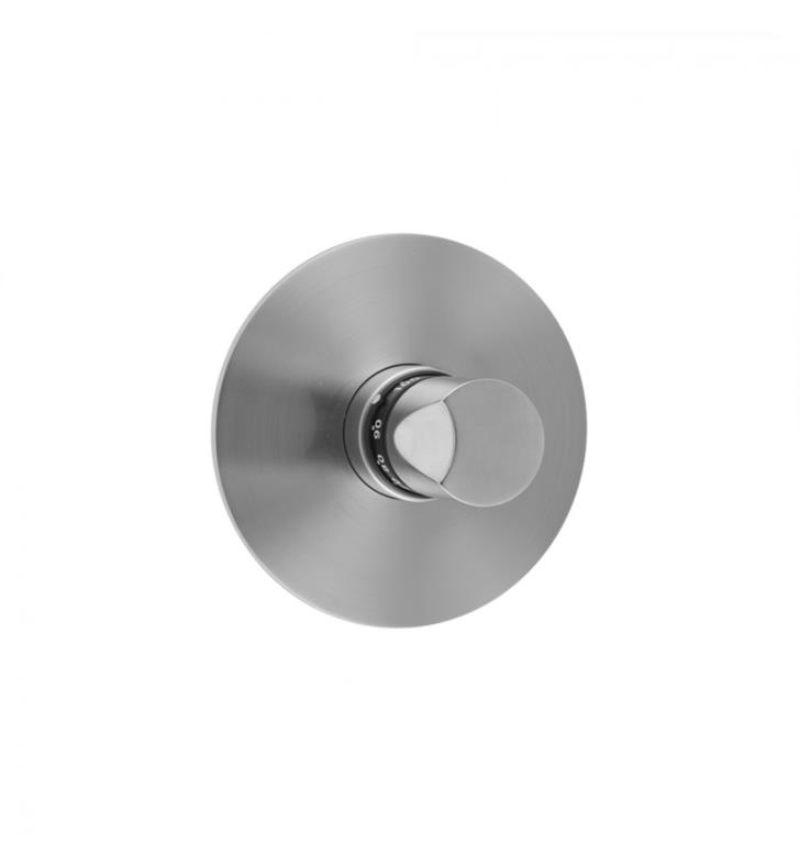 Jaclo T572 Trim Uptown Downtown Contempo 5 1 2 Round Plate With Thumb Handle Trim For Thermostatic Valves