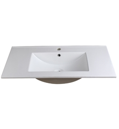 "Fresca FVS8136WH Allier 36"" White Integrated Sink with Countertop"