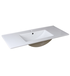 "Fresca FVS8140WH Allier 40"" White Integrated Sink with Countertop"
