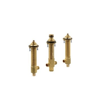 Danze D215500BT Widespread Rough-In Valve & Spout Tube for Roman Tub Filler & Personal Shower in Rough Brass