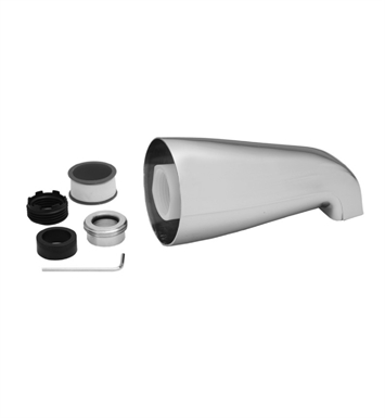 Jaclo 3006-MBK Over The Rim Decorative Tub Spout With Finish: Matte Black