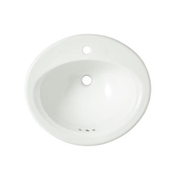 "TOTO LT401.8#01 20 3/8"" Vitreous China Oval Self-Rimming Lavatory Sink in Cotton With Faucet Holes: 8-Inch Centers"