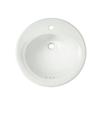 "TOTO LT402.8#01 19 1/2"" Vitreous China Round Self-Rimming Lavatory Sink in Cotton With Faucet Holes: 8-Inch Centers"
