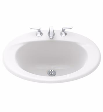 "TOTO LT511.4#51 Supreme 20"" Vitreous China Oval Self-Rimming Lavatory Sink With Finish: Ebony And Faucet Holes: 4-Inch Centers"