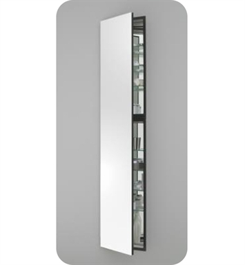 "Robern MC1670D6FPLE2 M Series 15 1/4"" Wide x 6"" Deep Customizable Cabinet With Cabinet Hinge: Left And Style and Color: Flat Cabinet Top with Plain Mirrored Door And Electrical / Lighting / Audio Option: Electrical outlet with Interior Light"