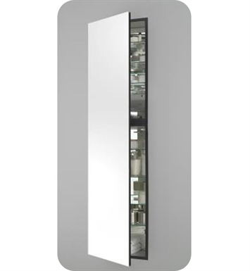 "Robern MC2070D6FPRE2 M Series 19 1/4"" Wide x 6"" Deep Customizable Cabinet With Cabinet Hinge: Right And Style and Color: Flat Cabinet Top with Plain Mirrored Door And Electrical / Lighting / Audio Option: Electrical outlet with Interior Light"